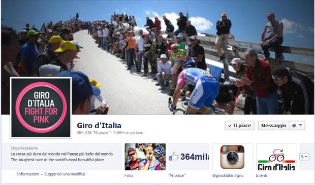 Giro Facebook Page